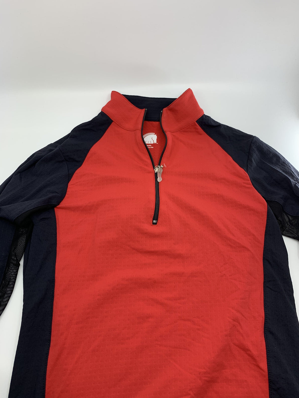 EIS Youth Shirt Y8-10 Red/Black Panel Youth EIS Sun Shirt equestrian team apparel online tack store mobile tack store custom farm apparel custom show stable clothing equestrian lifestyle horse show clothing riding clothes ETA Kids Equestrian Fashion | EIS Sun Shirts horses equestrian tack store