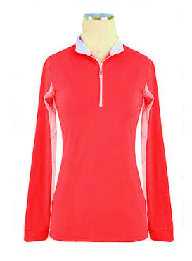 EIS Sunshirt EIS Red/White Accents Womens Long Sleeve equestrian team apparel online tack store mobile tack store custom farm apparel custom show stable clothing equestrian lifestyle horse show clothing riding clothes Wear a flattering sunshirt when you ride | made in the USA horses equestrian tack store