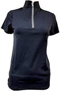 Tailored Sportsman Women's Shirt XXS Navy/Silver Short Sleeve Sun Shirt equestrian team apparel online tack store mobile tack store custom farm apparel custom show stable clothing equestrian lifestyle horse show clothing riding clothes horses equestrian tack store