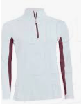 Tailored Sportsman Women's Shirt XXS White/Claret Long Sleeve Sun Shirt equestrian team apparel online tack store mobile tack store custom farm apparel custom show stable clothing equestrian lifestyle horse show clothing riding clothes horses equestrian tack store