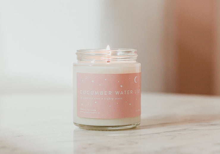 Cucumber Waterlily Candle