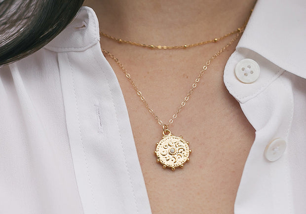 Cosmic Medallion Necklace