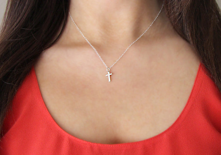 Tiny Sterling Silver Cross