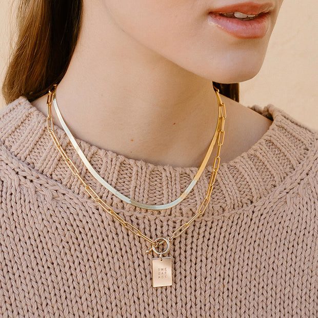 Thick Dani Rectangle Necklace