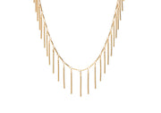 Gold Fringe Necklace