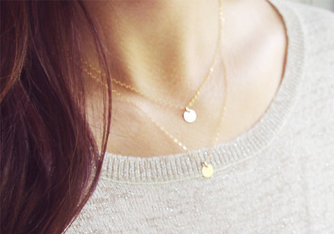 Delicate Dot Layered Necklace Set