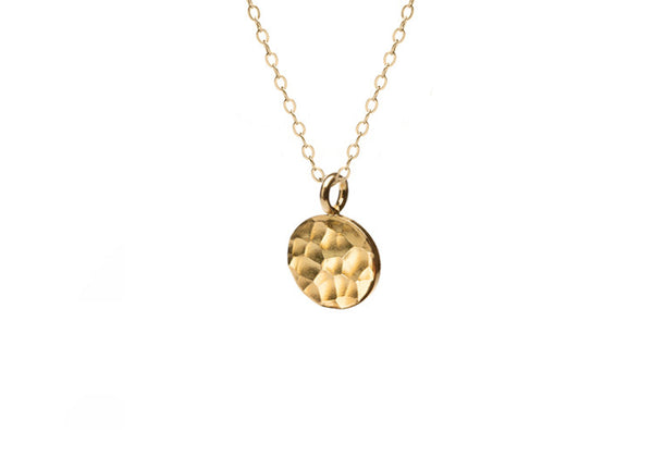 Small Hammered Gold Coin Necklace