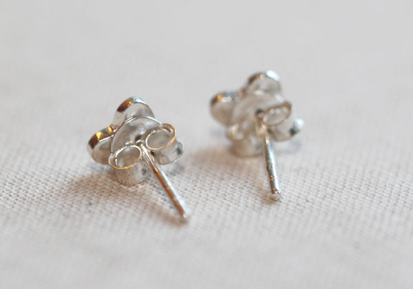 Tiny Silver Heart Studs Amanda Deer Jewelry