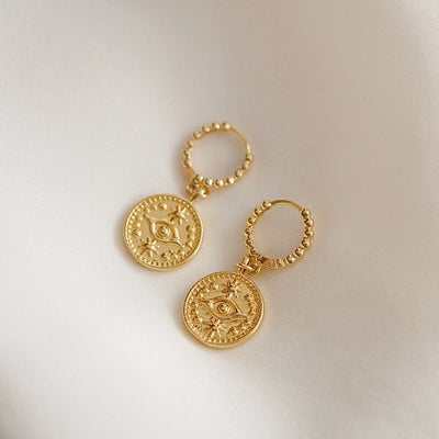 Third Eye Coin Huggies