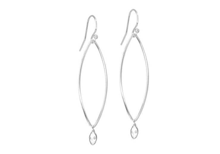 Marquise CZ Drop Earrings