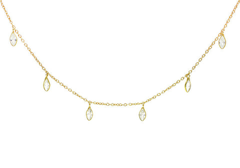 CZ Drops Choker Necklace