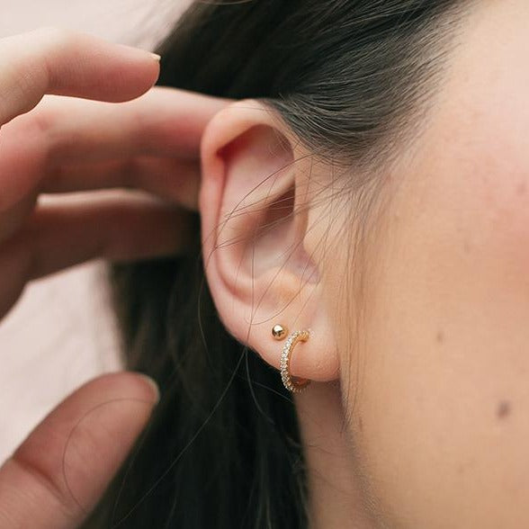 Tiny Gold Ball Studs