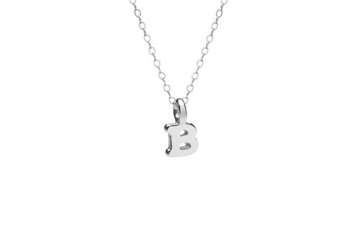 Mini Silver Initial Necklace