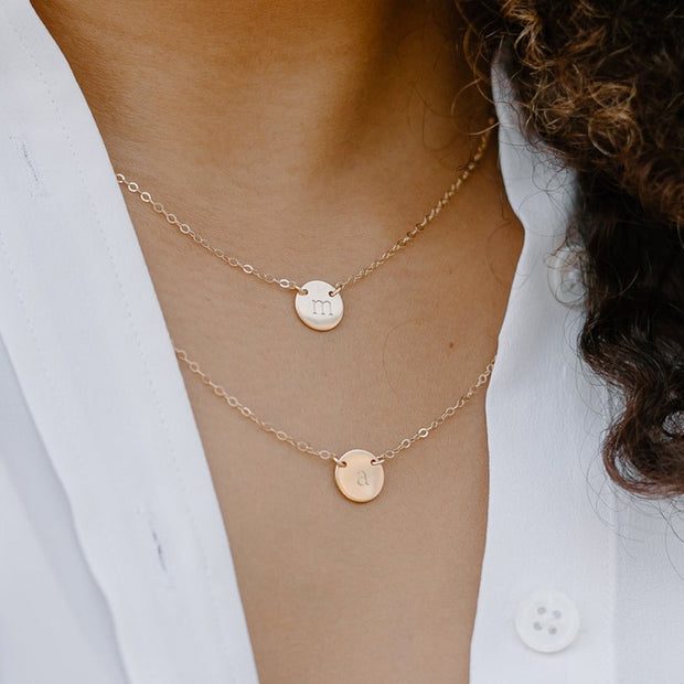 Poppy Initial Disc Necklace