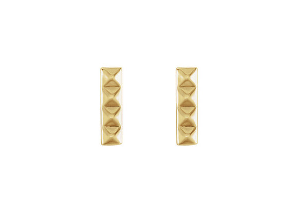 Mini Pyramid Bar Stud Earrings