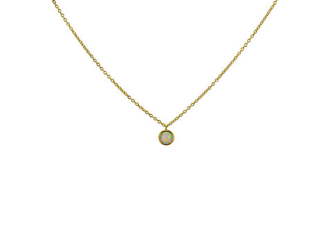Solitaire Opal Necklace