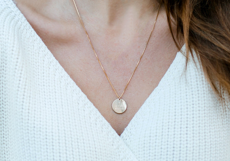 Stay Wild Coin Necklace