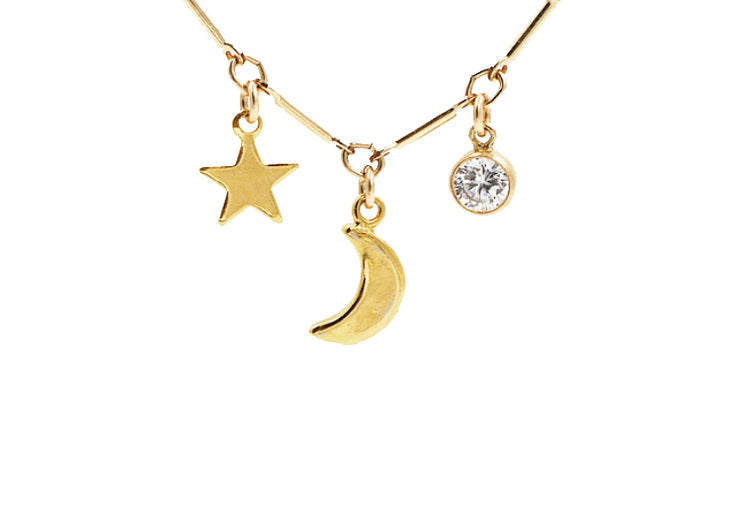 Sun, Moon and Stars Necklace