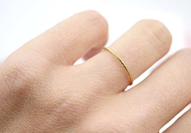Textured Slim Stacking Ring