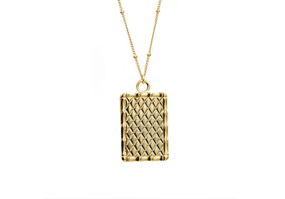 Textured Tag Necklace