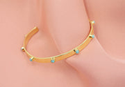 Turquoise and Gold Bangle