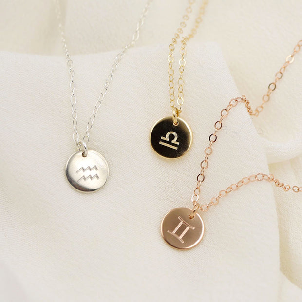 Mini Zodiac Coin Necklace
