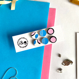 Pink and Blue Mini Studs