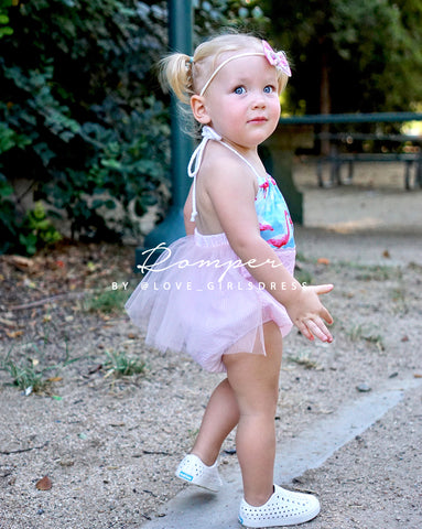 Flamingo Party Romper