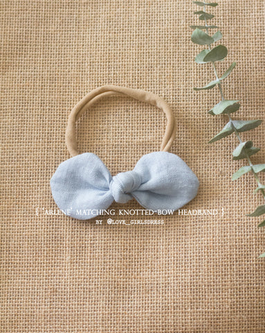 Arlene Matching Knotted Bow Headband