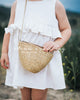 LGD Straw Crossbody Mini Bag