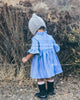 Baby Ruffled Blue Linen Dress 'Balina'