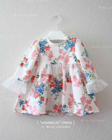 Baby Floral Pullover Dress 'Annabelle'