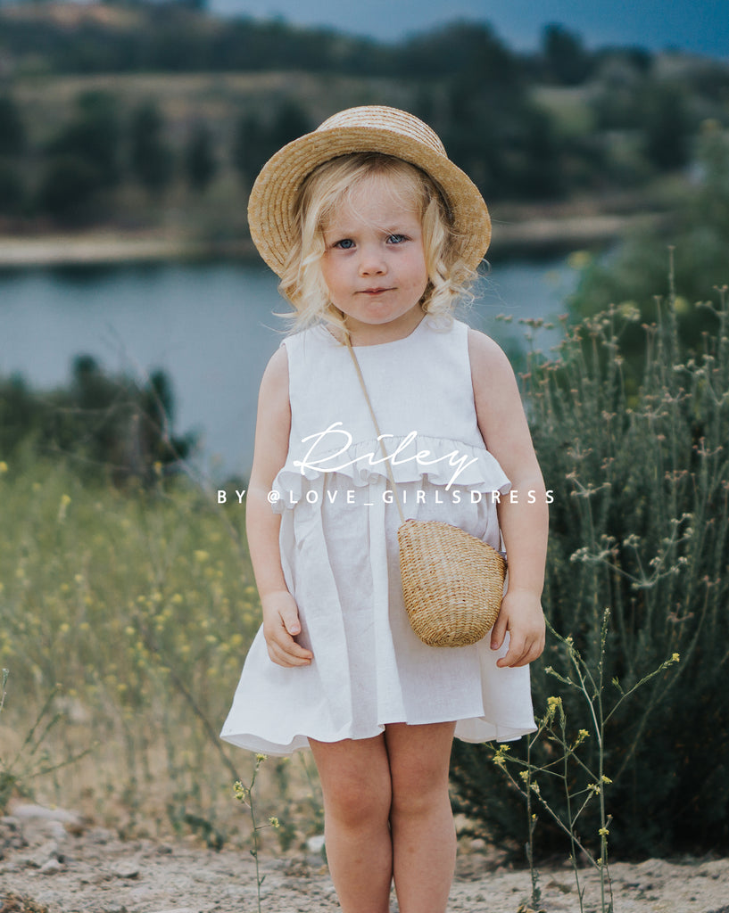 6f93891e54 Summer Off-White Linen Dress  Riley