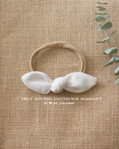 Abella Matching Knotted Bow Headband