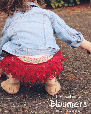 Small Floral Fringe Bloomers