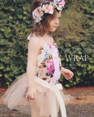 Baby Tulle Wrap- 3 colors available