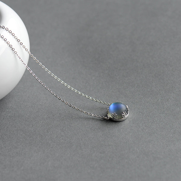 Aurora Crystal Gemstone s925 Silver Necklace