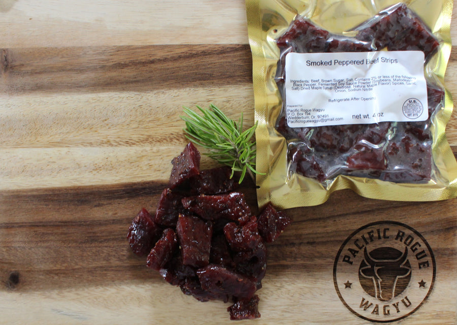 Smoked Peppered Beef Strips