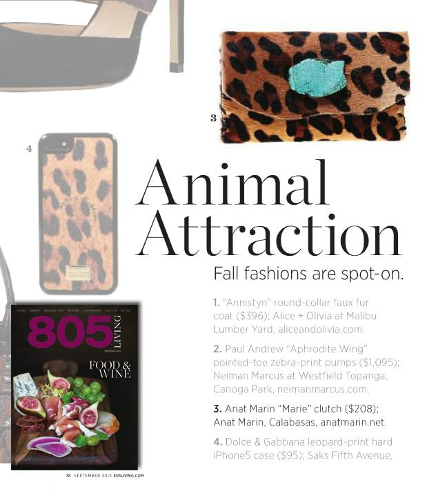 805 Living Magazine : Animal Attraction Fall Fashions are Spot On - Anat Marin Leopard Print Wallet/Clutch