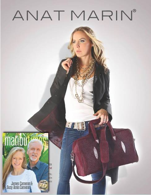 Malibu Times Magazine - Anat Marin Burgundy Stingray Modena Crossbody Bag