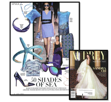 AUDREY Magazine - 50 Shades of Sea - Anat Marin Blue Handbag Crossbody