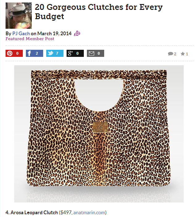 Arosa Leopard Print Clutch - 20 Clutches for every budget by Anat Marin