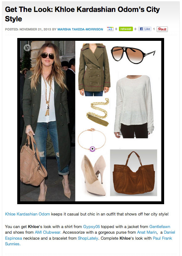 Get The Look: Khloe Kardashian City Style - Anat Marin Aversa Tote