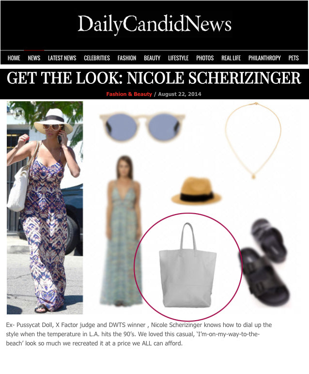 Daily Candid News = Get The Look: Nicole Scheriznger White Tote Bag - Anat Marin Zuma Tote