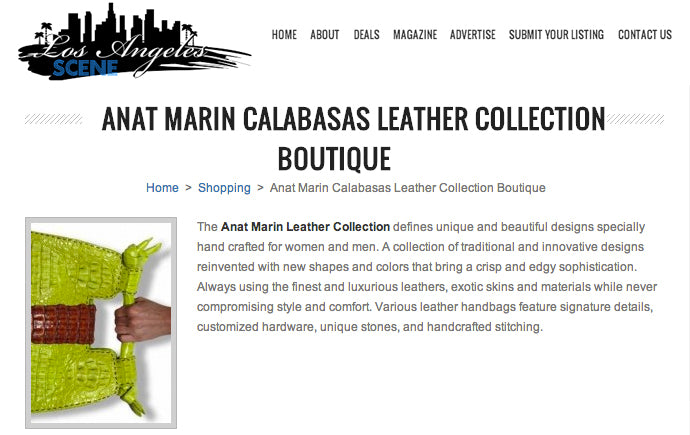 Anat Marin Calabasas Leather Collection
