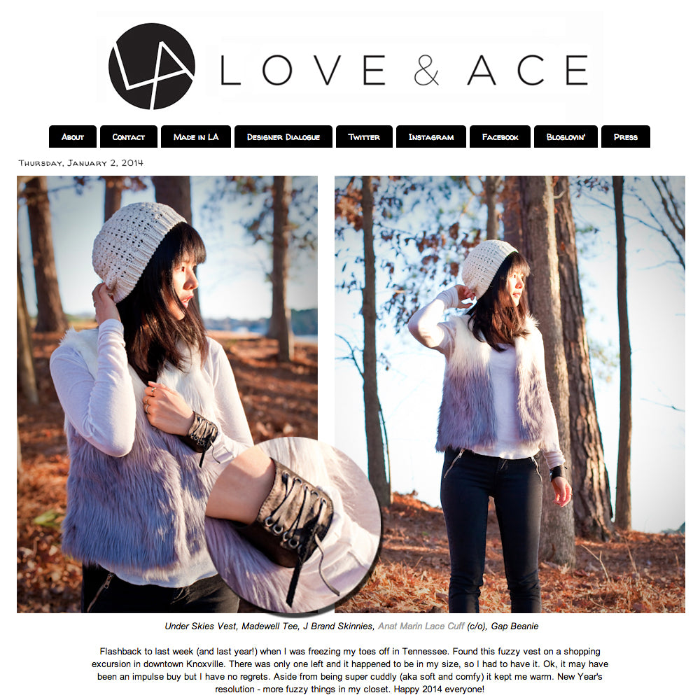 Love & Ace Fashion Blog - Anat Marin Leather Cuff