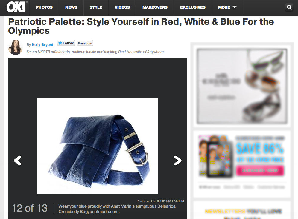 OK! Magazine - Patriotic Palette: Style Yourself in Red, White and Blue - Anat Marin Belearica Crossbody Bag