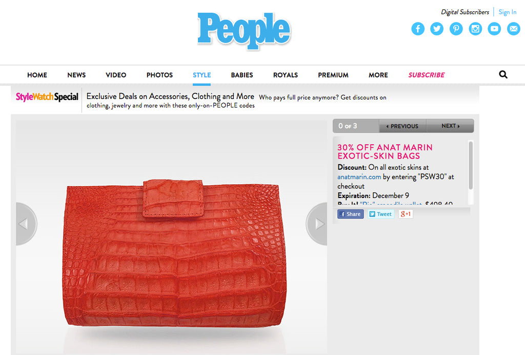 People Style Watch - Exclusive Deals - Anat Marin Rio Crocodile Wallet in Red