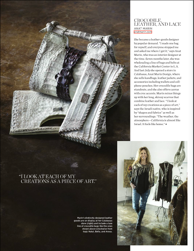 805 Living MAgazine - Anat Marin Exotic Leather Collection Calabasas