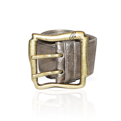 Alessandria Belt in Metallic